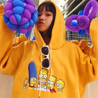 Ready Stock Women Cartoon Simpson Sweater Korean Cotton Tops Blouse Hoodies