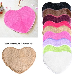 Absorbent Anti-slip Bathroom Living Room Heart Shap Floor Rug