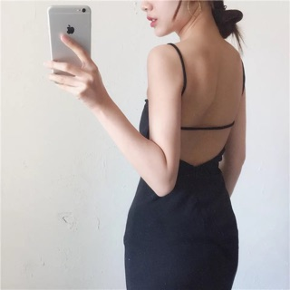 Lady dinner wear sexy backless elegant dress