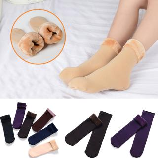 1Pair Women's Autumn And Winter Socks Velvet Casual Snow Thermal Keeping Socks