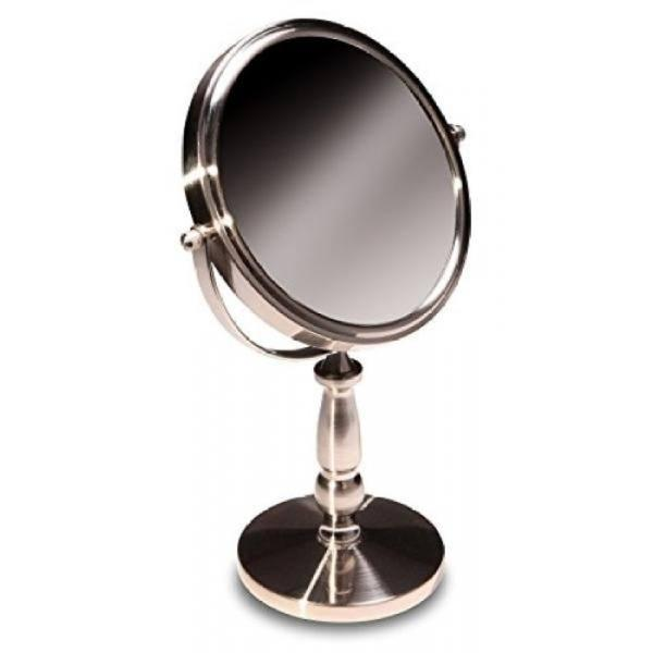 With Brushed Stainless Finish by Finishing Tabletop 5X Magnifying Vanity  Mirror