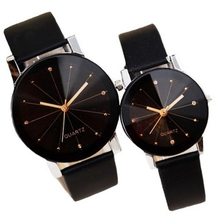 C01 Fashion Couple Watch- Black