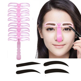 8pcs/set Fashion eyebrow Stencils different eyebrow shaper model makeup beauty tool useful eyebrow drawing guide  AC067