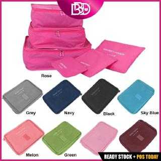 BBD TR007 Large 6 In 1 Travel Organizer Storage Bag Set Waterproof Clothes Cosmetics
