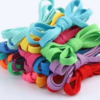 Girls'house Ready Stock New Shoelace 0.8cm Wide Flat Shoelace Color Mountaineering Running Shoelace 0.8mm Single Layer