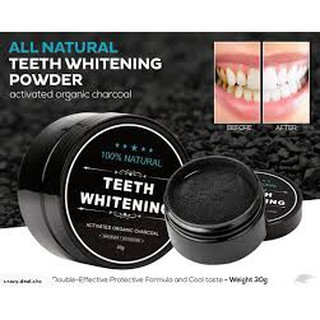 [Ready Stock] Teeth Whitening Powder Organic Charcoal Bamboo Amour Natural