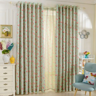 1 PC Napearl Flower luxury Bedroom fashion Window Thick Fabric Curtain