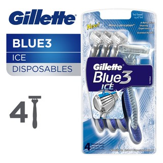 Gillette Blue3 Ice Disposable Razor (4 Pcs)