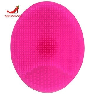 2Pcs Spa Silicone Skin Scrub Wash Face Facial Exfoliating Brush