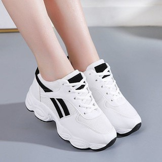 Lady's trainers⊙Summer sandals female breathable sneaker 2019 han edition joker running shoe heels fashion casual sh
