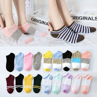 1 pairs Fashion ladies socks Korean low cut non-slip cotton socks STOKIN PANTANG MURA