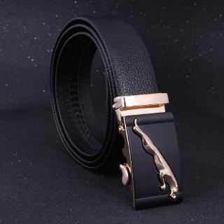 Online fashion men automatically buckle leather belt, high-grade business and leisure headbelt, bull belt