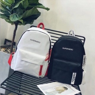 Korean Style Double Strap Superhero Sporty Design Casual Unisex Backpack【Ready Stock】Fast Delivery【HARGA BORONG】