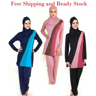 S-6XL Plus Size Women Muslim Swimwear Islamic Swimsuit With Hijab Muslimah Swimming Beachwear
