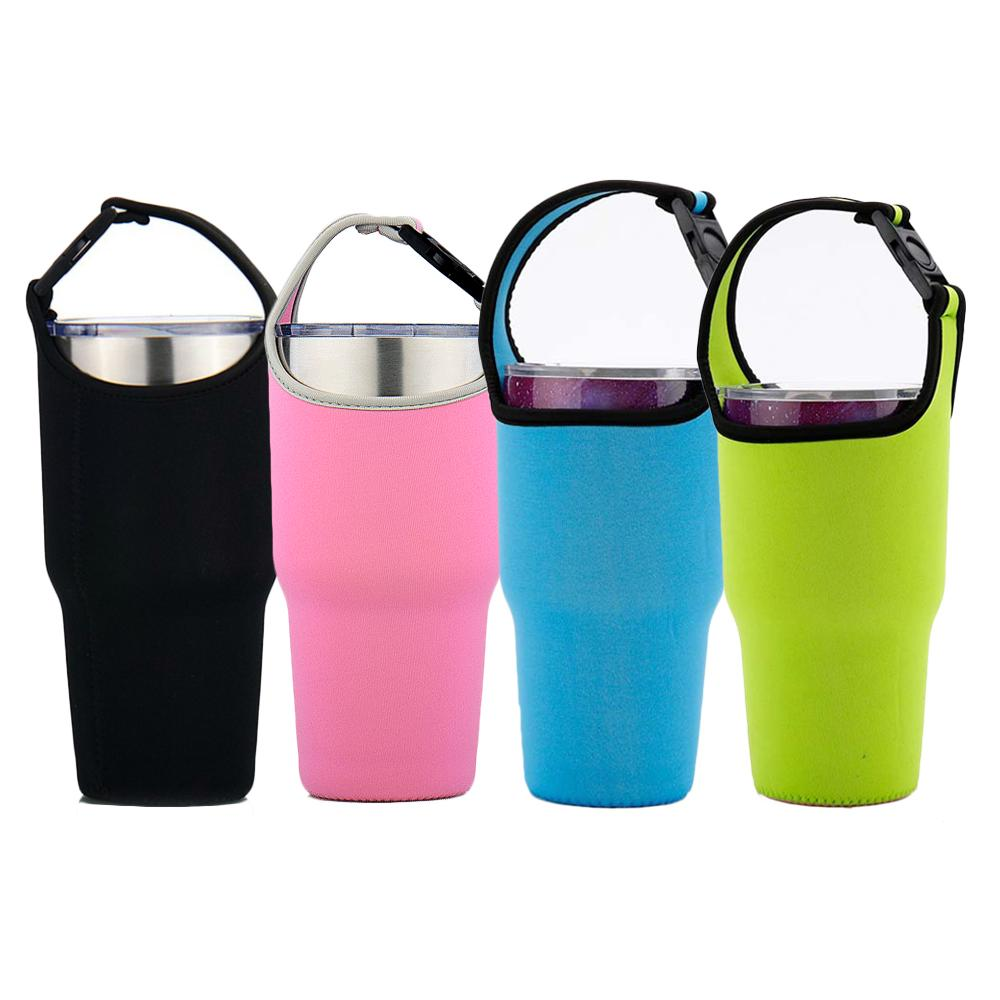 Silicone Water Bottle Sleeve Outdoor Travel Sports Cup Cover Sleeve Bag