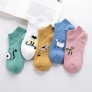 Hot Creative Cotton Cartoon Animal Pattern Women Leisure Breathable Socks