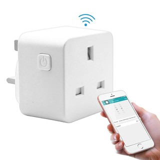Yishuho0 Smart WiFi Power Socket UK Plug Switch For Amazon Alexa/Google Home App Control