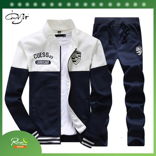 Ready Stock men Sportswear Jacket Mens Running Set Sweater male clothes