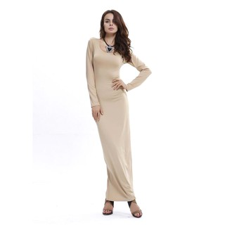 Women Long Sleeve Evening Party Maxi Dress