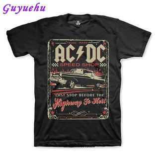 UA- Tee Men's T-shirt Fashion short sleeve Funny Men AC DC Speed Shop Highway To Hell Me