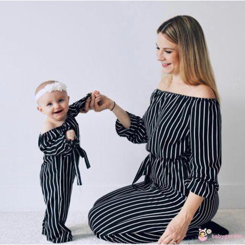 GYA-Family Clothes Mother & Daughter Matching Mom Women Casual Jumpsuit Outfits