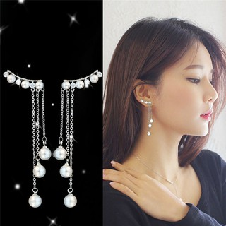 Women Pearl Pendent Dangle Drop Earrings Tassel Ear Stud Jewelry Accessories