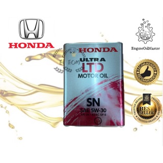 Honda Fully Synthetic Engine Oil Ultra LTD SN 5W-30 ( Made in Japan )
