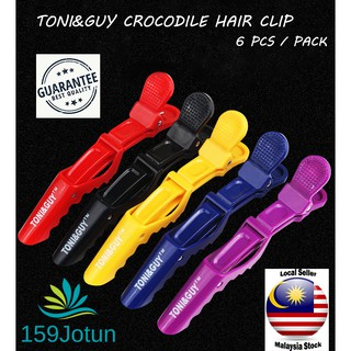 6pcs Toni&Guy Hair Sectioning Crocodile Clips Clamps Hairdressing Salon Hair Grip DIY Hairpins