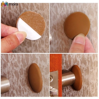 Self Adhesive Door Knob Handle Wall Buffer Rubber Stop Stopper Prevent Guard Moira