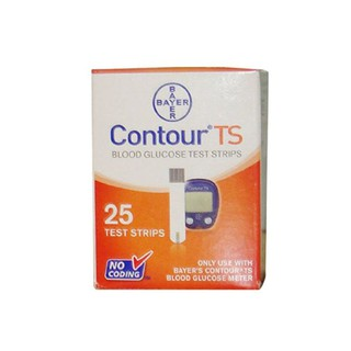 CONTOUR TS BLOOD GLUCOSE TEST STRIPS 25 TEST STRIPS