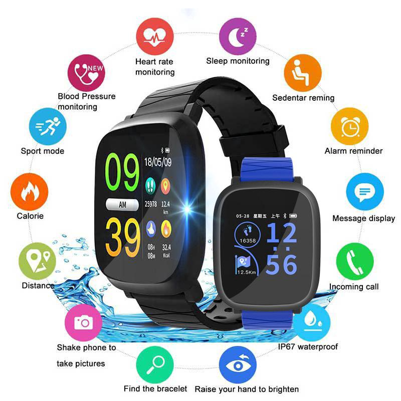 Smart Watch Big Color Screen Heart Rate Monitor Fitness Watch for Men Women