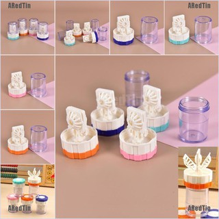 ARedTin Latest New Manually Contact Lens Cleaner Washer Cleaning Lenses Case
