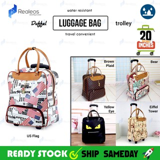 20 inches Realeos Nylon Travel Luggage Trolley Duffel Bag R666