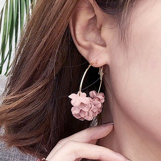 Women Elegant Flowers Charm Wild Fake Flower Long Earrings Jewelry Gifts