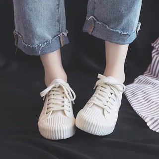 Canvas shoes children 2019 tide hundred small white summer new breathable cookie students Korean plate female-Pre-sale: