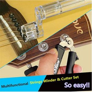 Alice Folk Guitar Pulling Coil String Cutting String Clamps String Chords Changing String Accessories Tool Set