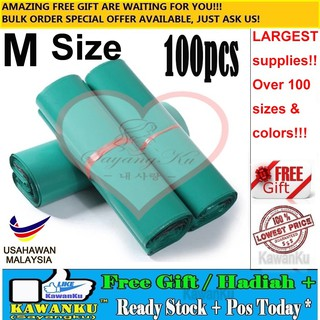 [M'sia] Ready Stock Poslaju Courier Bag Flyer Delivery Order Green Color(M)+Gift CK06