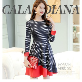 Dress red and black Polka Dot Dress S-XXL