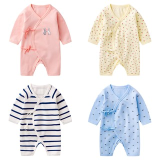 Baby autumn outfit monk take neonatal cotton dress long-sleeved climb clothes jumpsuits butterfly go out in the spring