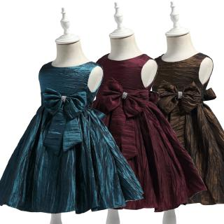 Princess Formal Girl Dresses Low price cheap Child Party Dress For Girls 2-8 Years Knee-Length Kids Evening Gowns