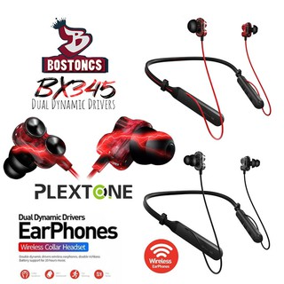 PLEXTONE BX345 Dual Dynamic Driver HIFI Wireless Bluetooth Sport Gym Collar Earphones With Microphone