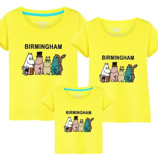 <Family shirt>Cotton Cartoon birmingham Family Set clothing shirts tshirt #9140
