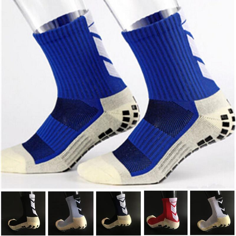 Football Sock Anti Slip Soccer Socks Men Sports Gym Run Fitness Socks