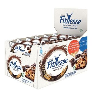 Nestle Chocolate Fitnesse Breakfast Cereal Bar (23.5g x 16 Bars) Exp March 2020