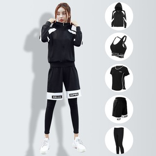 【recommended】Meaning set denson 2019 new yoga clothing female five loose running quick-drying gym professional sport