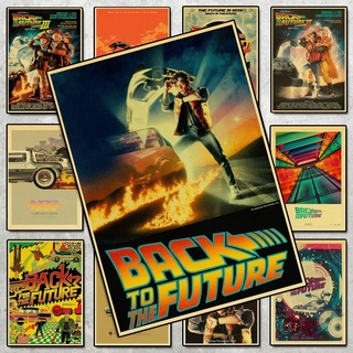 Vintage class movie Back to the Future Award retro poster home decorative