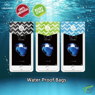 USAMS Phone Waterproof Bag for 6inch Mobile Phone PVC Three Layer