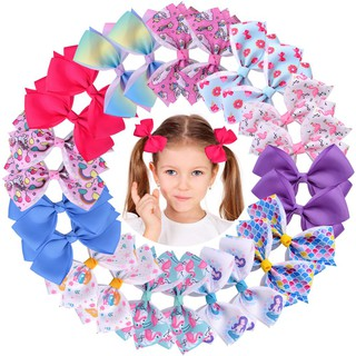 4.7inches Baby Girls Hair Bows Alligator Clips Unicorn Ribbon Boutique Hair Accessories for Toddlers Teens Kids