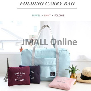 [LOWEST]JMALL WIND BLOWS Duffel Bag Travel Bag Large Luggage Foldable Travel Bag Melancong