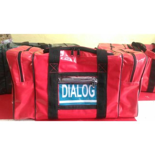 BAG OFFSHORE 75L 100% CANVAS WATERPROOF (RED)